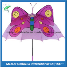 Promotional Gift Fancy Butterfly Shape Catoon Kids Children Umbrella for Sun and Rain Use