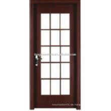 WPC PVC-WC-Tür Küchentür mit Glasgrills Design