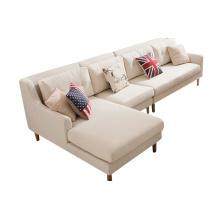 Conjunto de sofá de tecido de sala de estar