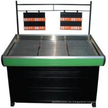Caliente venta de estante de la fruta vegetal con acero inoxidable laminado