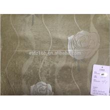 2016 nova chegada 100% poliéster grande Jacquard Rose design blackout tecido para janela