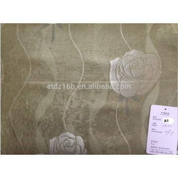 2016 new arrival 100% Polyester Large Jacquard Rose design Blackout fabric for Window