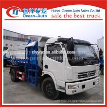 Dongfeng pequeña capacidad de auto carga camión de basura