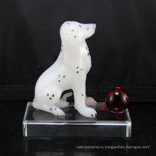 Лучшей цене высочайшее качество ручной работы Пуцзян Кристалл животных собака поделки