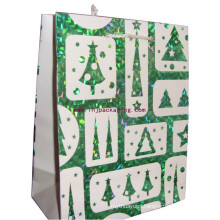 Novelty Luxury Glitter Coated Paper Bag with Custom Handle