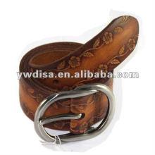 Genuine Leather Belt Carved Flower Leather Belt