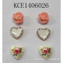 Lovely Earrings Set with Metal Jewellery