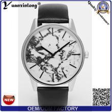 YXL-059 продвижение горячей продажи мрамора лицом часы дамы часы кожа женщин наручные часы бизнес роскоши моды часы