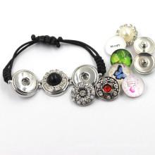 Bracelet à bouton-pression en métal coloré à la mode