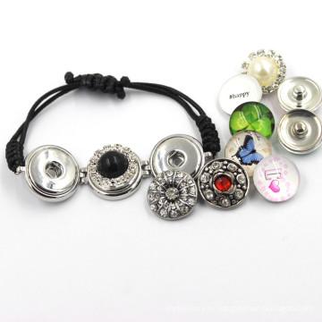 Мода Красочные Металл Ювелирные изделия Кнопка оснастки браслет