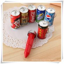Forma de botella de bebida Ballpen para promoción