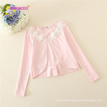 new arrival korean girl coat flower design autumn spring summer jacket cotton baby girl coat