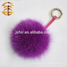 2014 Nouveau style Fox Fur Ball Porte-clés pour le sac Car Home Décoration Real Fur Accessoires Hotsale Fox Fur Pom Pom designer Keychain