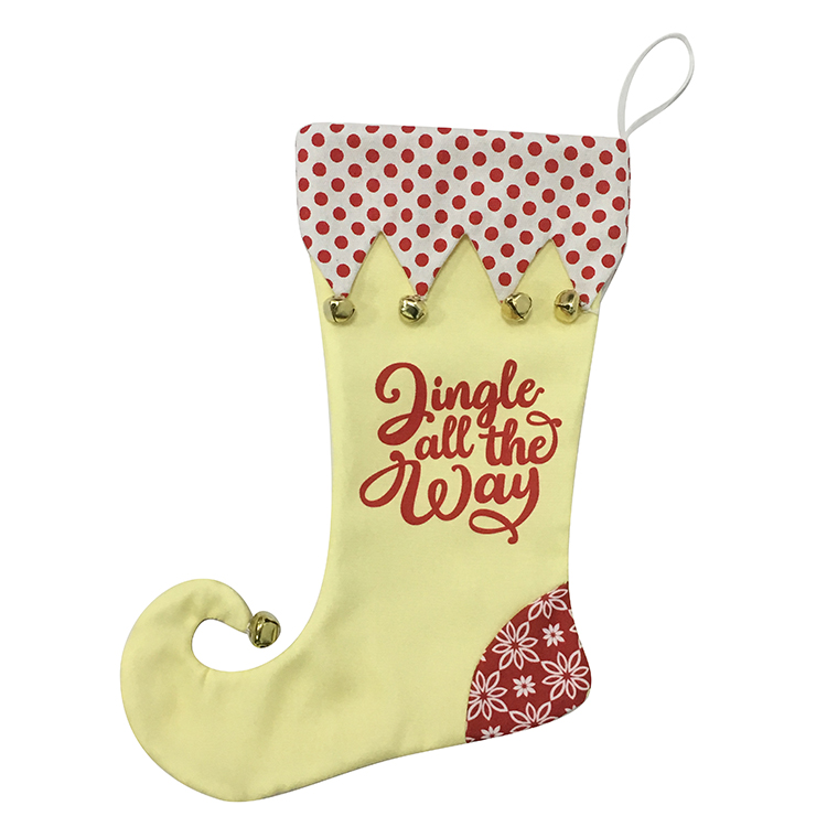 Christmas Yellow Magic Elf Stocking