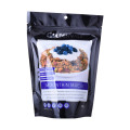 Bolsa de pie biodegradable mate de granola Muesli Kraft