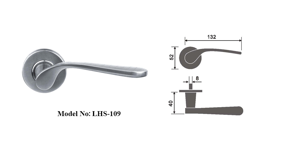 Contemporary Stainless Steel Handles for door