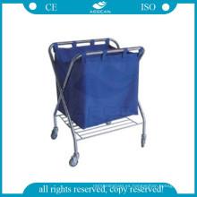 AG-SS023 aprobado sucia toallita de acero instrumento utilidad carro