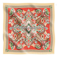 2014 fashion paisley design silk twill bandana