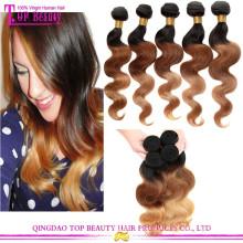 2015 vente chaude 3 tons de couleur 100% ombre humaine cheveux tressage des cheveux pour les femmes noires