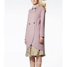 17PKCSC003 women double layer 100% cashmere wool coat
