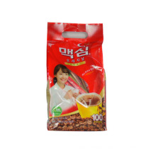 100g Ground Coffee Bag/Quad Side Sealed Coffee Packaging