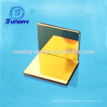 Optical golden mirror.bk7, matériau en cuivre