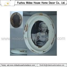 Shabby Chic White Oval Wooden Frames