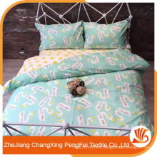 Wholesale bed sheet printed with letters and animals