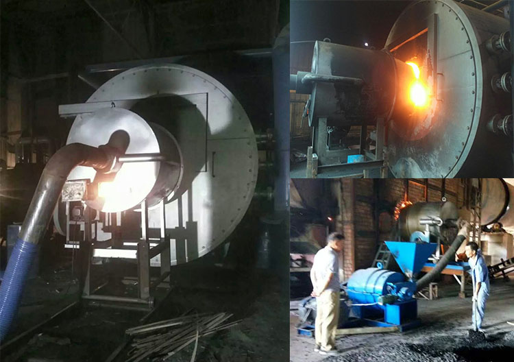 Rotary pulverized coal burner