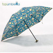 nuevos paraguas impresos hermosos 2018 anti-ULTRAVIOLETA