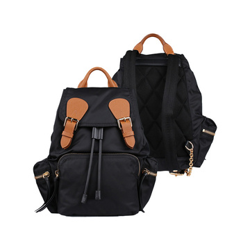Zaino in Nylon Vintage Backpack Casual Daypack in pelle da scuola