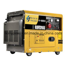 Air Cooled 5.5kw Portable Silent Small Diesel Engine Power Electric Portable Generator with 4-Stroke Diesel Generating Power Generation
