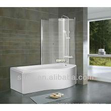 El mejor baño de acrílico con la pantalla del baño
