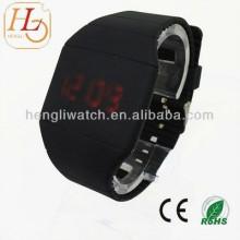 Montre populaire d'écran tactile de LED, montres de silicium de Digital (15024)