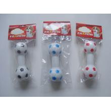 Produtos do animal de estimação do futebol do vinil do brinquedo do cão