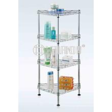 Design exclusivo banheira de prateleira de canto de banho de metal para uso doméstico (CJ-C1186)