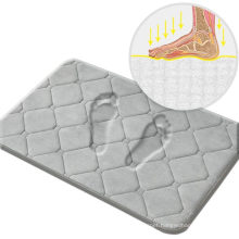 Memory Foam Flannel Bath Mat Rugs,20X32 Grey Bathroom Rugs,Quick Absorbent,Machine Washable,Non-Slip,Easy to Dry,Apply for Bedroom,Bathroom, Kitchen,Shower Room