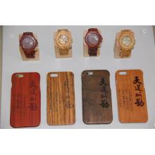 La contraportada del caso de alta calidad de la fuente de la fábrica para el teléfono y el reloj de madera I
