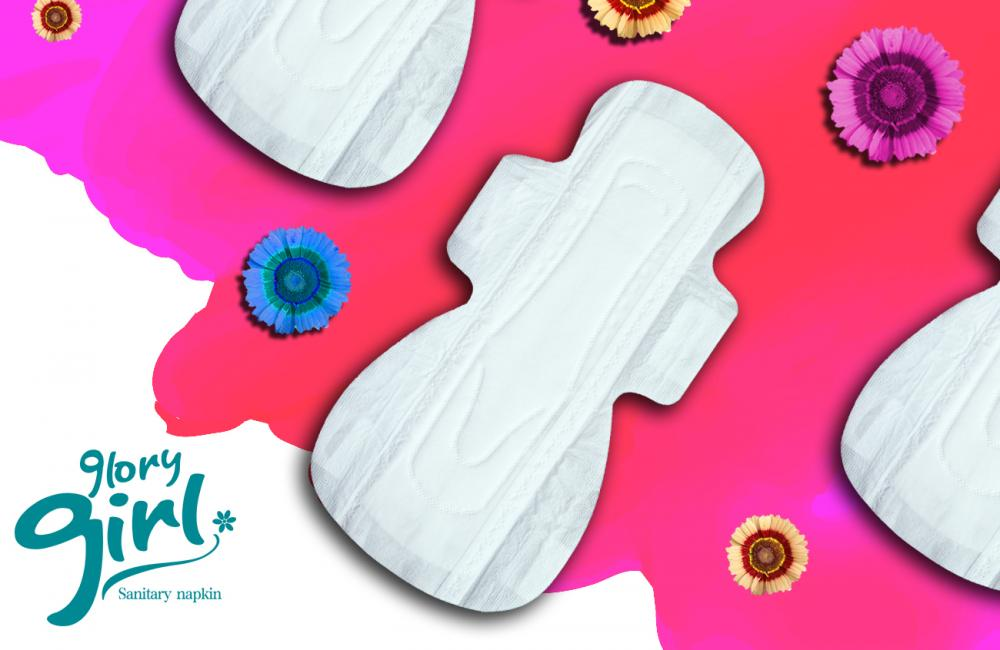 Spunlace 100 cotton sanitary napkins with scent