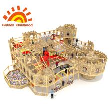Castillo de madera de interior de juegos infantiles para niños