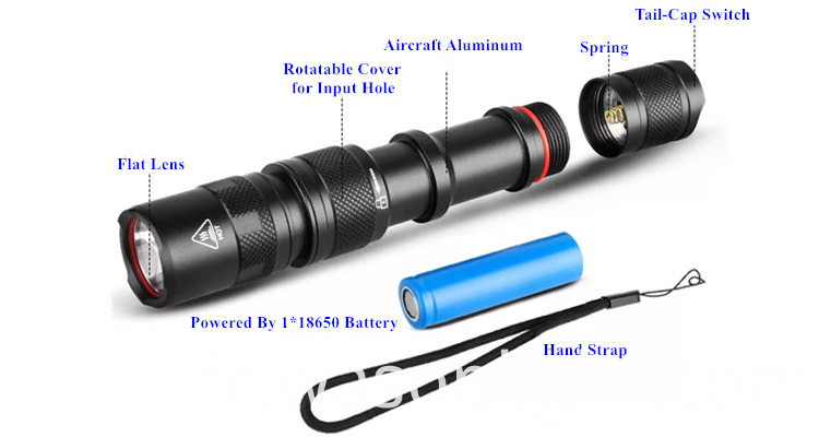 18650 Flashlight Torch