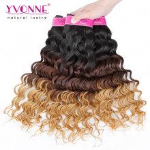 Bestnote tiefe Welle peruanischen Ombre Haar