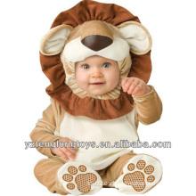 Pijama adorable vendedor caliente del bebé del león de la felpa