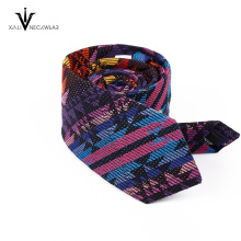 Blue Red Colorful Paisley Tie