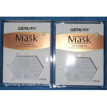 Boîte en plastique faite sur commande d'emballage pour le masque (boîte d'impression de PVC)