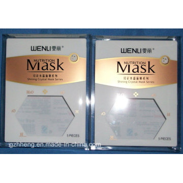 Caixa feita sob encomenda do empacotamento plástico para a máscara (caixa da impressão do PVC)