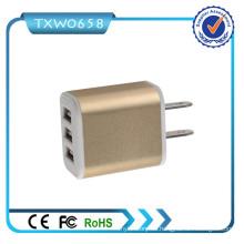 Fabricación barata del precio 3 puertos del USB cargador de la pared del USB de 5V 2.1A