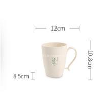 Unzerbrechliche Bambusfaser-Kaffeetassen aus Kunststoff
