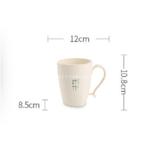 Tasses à café en plastique incassables en fibre de bambou