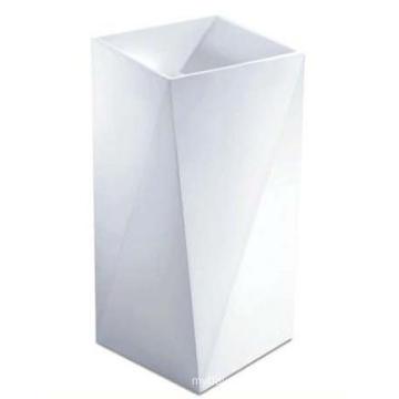 Bathroom Freestanding Stylish Marble Stone Pedestal Basin (BS-8511)
